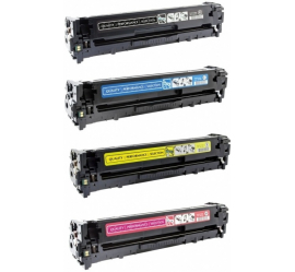 PACK X 4 HP CE320A/CE321A/CE322A/CE323A CMYK CARTUCHOS DE TONER COMPATIBLES Nº 128A
