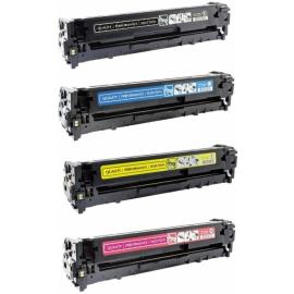 PACK X 4 HP CB540A/CB541A/CB542A/CB543A CMYK CARTUCHOS DE TONER COMPATIBLES Nº 125A