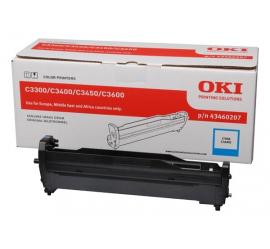OKI C3300/C3400/C3450/C3600 CYAN TAMBOR DE IMAGEN ORIGINAL (43460207)