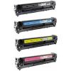 PACK X 4 HP CF380X/CF381A/CF382A/CF383A CMYK CARTUCHOS DE TONER COMPATIBLES Nº 312X