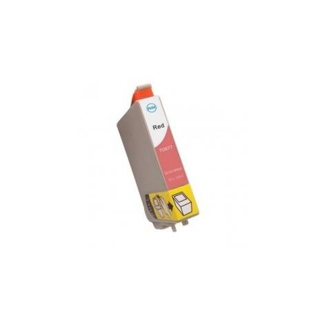 EPSON T0877 ROJO CARTUCHO DE TINTA COMPATIBLE (C13T08774010)