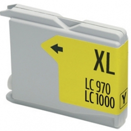 BROTHER LC1000XL/LC970XL AMARILLO CARTUCHO DE TINTA COMPATIBLE