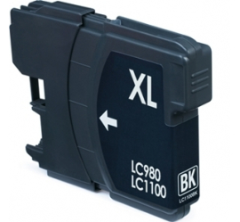 BROTHER LC980XL/LC1100XL NEGRO CARTUCHO DE TINTA COMPATIBLE