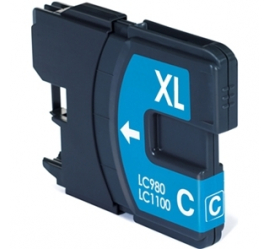 BROTHER LC980XL/LC1100XL CYAN CARTUCHO DE TINTA COMPATIBLE
