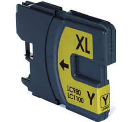 BROTHER LC980XL/LC1100XL AMARILLO CARTUCHO DE TINTA COMPATIBLE