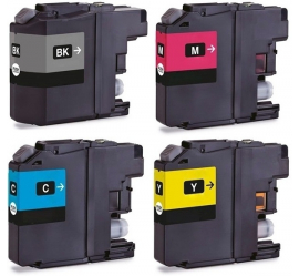 PACK 4 BROTHER LC529XL/LC525XL CMYK CARTUCHOS DE TINTA COMPATIBLES