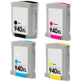 PACK 4 HP 940XL CMYK CARTUCHO DE TINTA COMPATIBLE (C4906AE), (C4907AE), (C4908AE), (C4909AE)