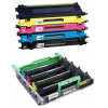 PACK BROTHER TN130/TN135/DR130/DR135 CMYK CARTUCHOS DE TONER + TAMBOR (DRUM) COMPATIBLES
