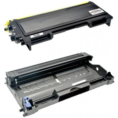 PACK BROTHER TN2000/TN2005/TN350 + DR2000/DR2005/DR350 NEGRO CARTUCHO DE TONER + TAMBOR (DRUM) COMPATIBLE