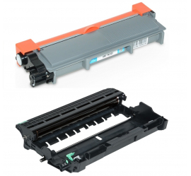 PACK BROTHER TN2310/TN2320/DR2300 NEGRO CARTUCHO DE TONER + TAMBOR (DRUM) COMPATIBLE