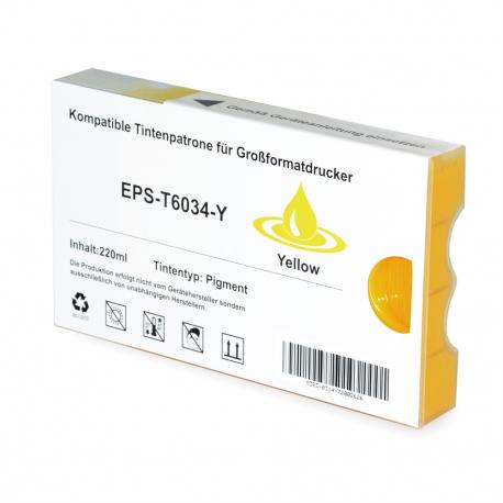 EPSON T603400 AMARILLO CARTUCHO DE TINTA PIGMENTADA COMPATIBLE (C13T603400)