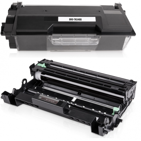PACK BROTHER TN3430/TN3480/DR3400 NEGRO CARTUCHO DE TONER Y TAMBOR (DRUM) COMPATIBLES