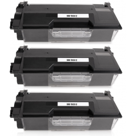 PACK X 3 BROTHER TN3512 NEGRO CARTUCHOS DE TONER COMPATIBLES