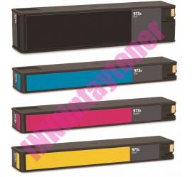 PACK 4 HP 973X V9 CMYK CARTUCHOS DE TINTA PIGMENTADA COMPATIBLES