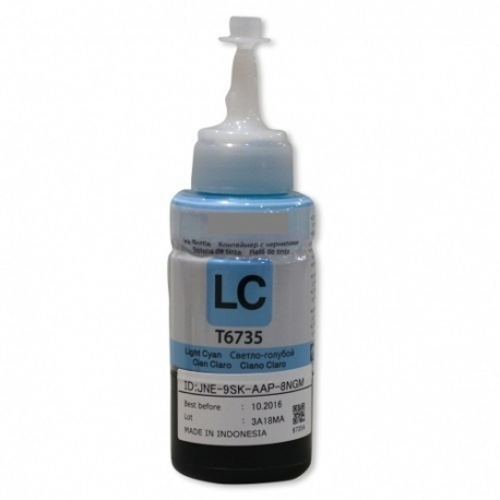EPSON T6735 CYAN LIGHT BOTELLA DE TINTA COMPATIBLE (C13T67354A)