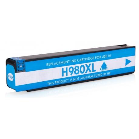HP 980 CYAN CARTUCHO DE TINTA PIGMENTADA COMPATIBLE (D8J07A)