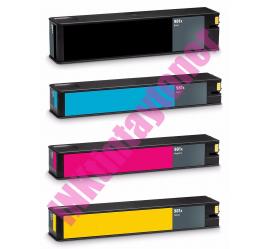 PACK 4 HP 981A/981X V10 CMYK CARTUCHOS DE TINTA PIGMENTADA COMPATIBLES
