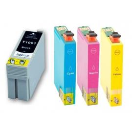 PACK EPSON T1001/T1002/T1003/T1004 CMYK CARTUCHOS DE TINTA COMPATIBLES