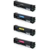 PACK X 4 HP CF400X/CF401X/CF402X/CF403X CMYK CARTUCHOS DE TONER COMPATIBLES Nº 201X