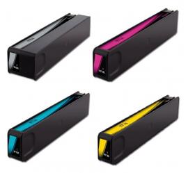 PACK X 4 HP 970XL/971XL CMYK CARTUCHOS DE TINTA PIGMENTADA COMPATIBLES