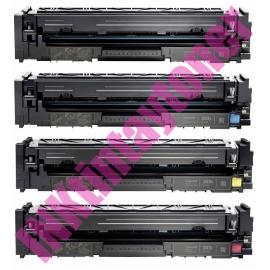 PACK 4 HP CF540A/CF541A/CF542A/CF543A CARTUCHOS DE TONER COMPATIBLES Nº 203A
