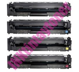 PACK 4 HP CF540X/CF541X/CF542X/CF543X CARTUCHOS DE TONER COMPATIBLES Nº 203X (CHIPS ACTUALIZADOS)