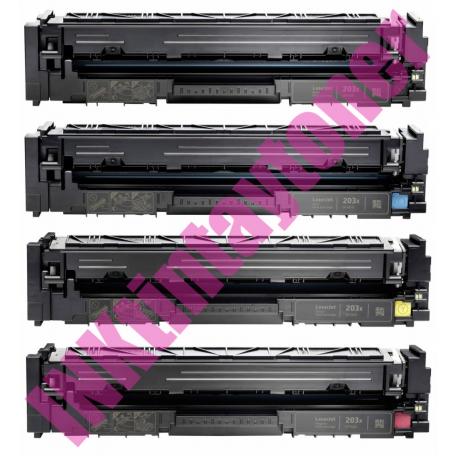 PACK 4 HP CF540X/CF541X/CF542X/CF543X - CF540A/CF541A/CF542A/CF543A CARTUCHOS DE TONER COMPATIBLES Nº 203X (CHIPS ACTUALIZADOS)