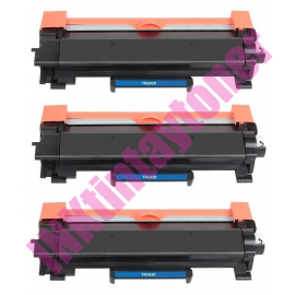 PACK 3 BROTHER TN2420/TN2410 V2 NEGRO CARTUCHOS DE TONER COMPATIBLES PREMIUM (CON CHIP)