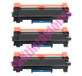 PACK 3 BROTHER TN2420/TN2410 NEGRO CARTUCHOS DE TONER COMPATIBLES PREMIUM (CHIP ACTUALIZADO)