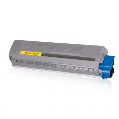 OKI MC853/MC873 AMARILLO CARTUCHO DE TONER COMPATIBLE (45862837)