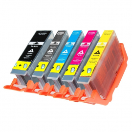 PACK 5 CANON PGI580XXL/CLI581XXL CMYK CARTUCHOS DE TINTA COMPATIBLES