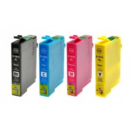 PACK EPSON T1811/T1812/T1813/T1814 (18XL) CARTUCHOS DE TINTA COMPATIBLES