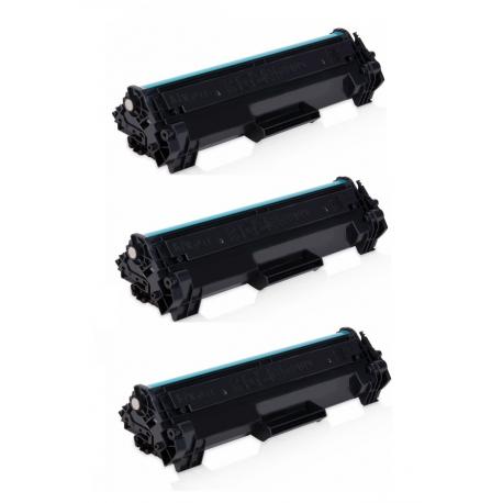 PACK 3 HP CF244A XL NEGRO CARTUCHOS DE TONER COMPATIBLES Nº 44A (CHIP ACTUALIZADO) (ALTA CAPACIDAD/JUMBO)