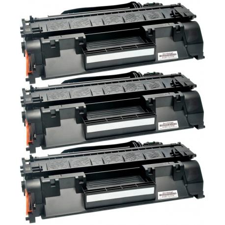 PACK X 3 HP CF280A NEGRO CARTUCHOS DE TONER COMPATIBLES Nº80A