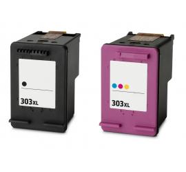 PACK 2 HP 303XL V3 CMYK CARTUCHOS DE TINTA COMPATIBLES