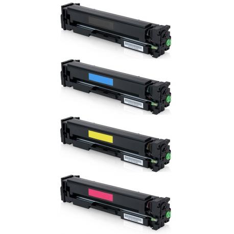 PACK 4 HP W2030X/W2031X/W2032X/W2033X CMYK CARTUCHOS DE TONER COMPATIBLES Nº415X/415A (SIN CHIP)