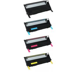 PACK 4 SAMSUNG CLP320/CLP325 CMYK CARTUCHOS DE TONER REMANUFACTURADOS (CLT-K4072S, CLT-C4072S, CLT-M4072S, CLT-Y4072S)