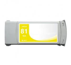 HP 81 AMARILLO CARTUCHO DE TINTA COMPATIBLE (C4933A)